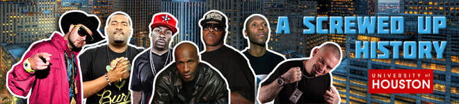 A Screwed Up History Promotional Photo with images of Houston Hip Hop Artists